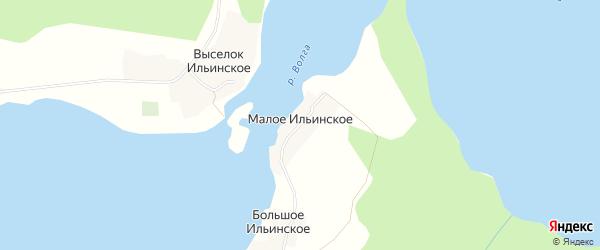 Карта деревни Малого Ильинского города Осташкова в Тверской области с улицами и номерами домов