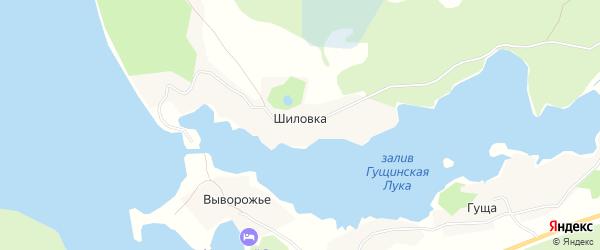 Карта деревни Шиловки города Осташкова в Тверской области с улицами и номерами домов
