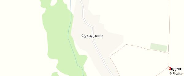 Полевая улица на карте села Суходолья с номерами домов