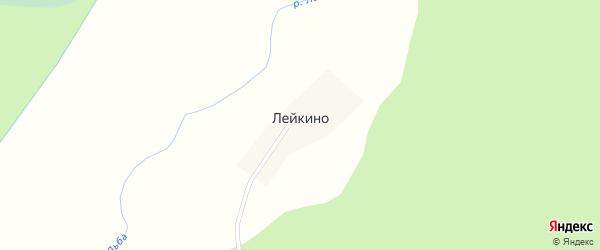 Центральная улица на карте деревни Лейкино Тверской области с номерами домов