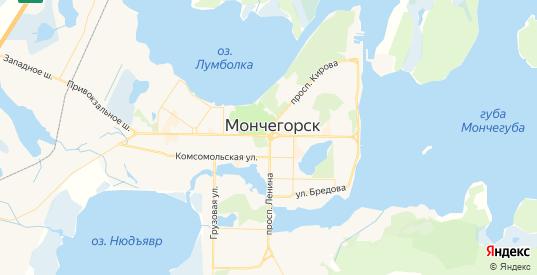 Карта Мончегорска с улицами и домами подробная. Показать со спутника номера домов онлайн