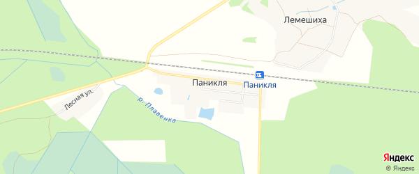 Карта деревни Паникли в Тверской области с улицами и номерами домов