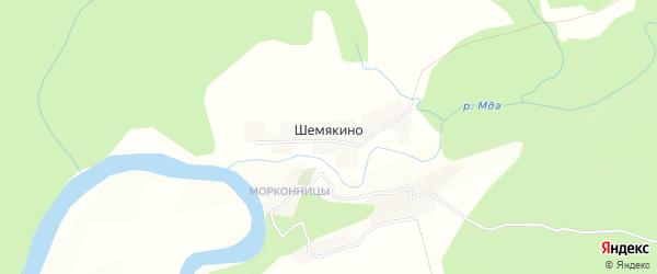 Карта деревни Шемякино в Новгородской области с улицами и номерами домов