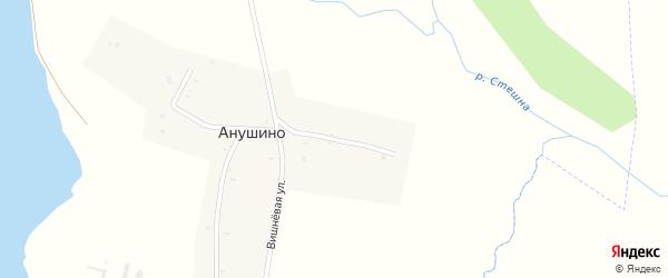 Красноармейская улица на карте деревни Анушино с номерами домов