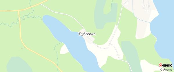 Карта деревни Дубровки города Осташкова в Тверской области с улицами и номерами домов