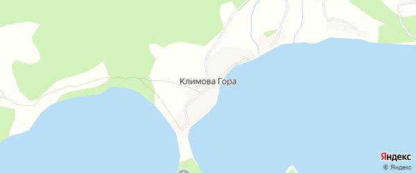 Карта деревни Климова Гора города Осташкова в Тверской области с улицами и номерами домов