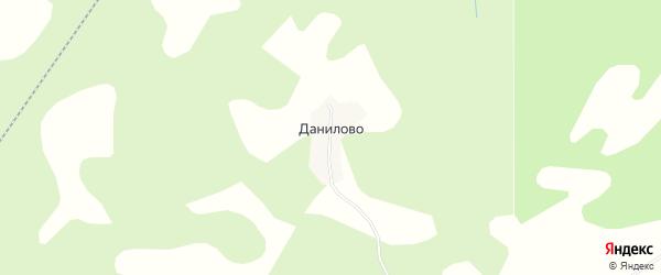 Карта деревни Данилово города Осташкова в Тверской области с улицами и номерами домов