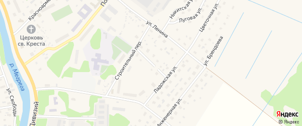 Ладожский переулок на карте Олонца с номерами домов