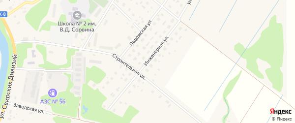 Инженерная улица на карте Олонца с номерами домов