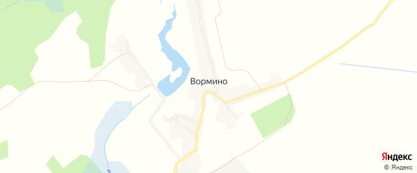 Карта села Вормино в Брянской области с улицами и номерами домов