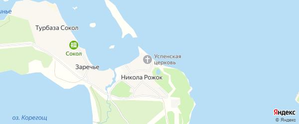 Карта деревни Никола Рожка города Осташкова в Тверской области с улицами и номерами домов