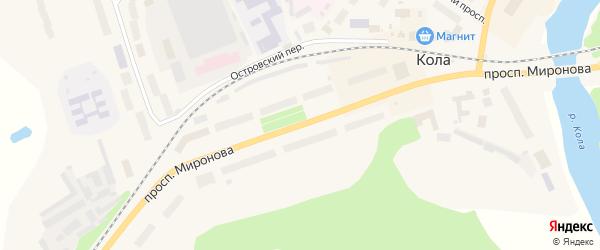 Проспект Миронова на карте Колы с номерами домов