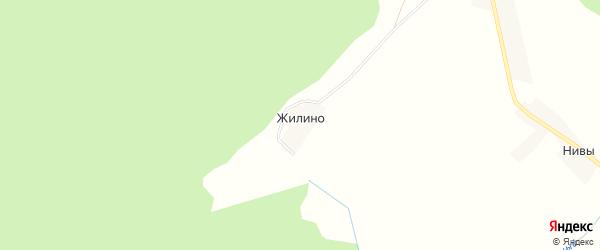Карта деревни Жилино в Тверской области с улицами и номерами домов