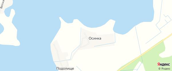 Карта деревни Осинки города Осташкова в Тверской области с улицами и номерами домов