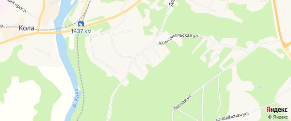 Территория днт Дорожное на карте Колы с номерами домов