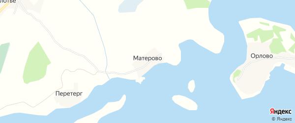 Карта деревни Матерово города Осташкова в Тверской области с улицами и номерами домов