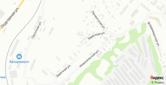 Заречная улица в Полярные Зори с номерами домов на карте. Спутник и схема онлайн