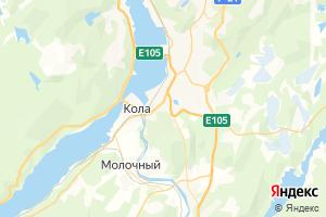 Карта г. Кола Мурманская область