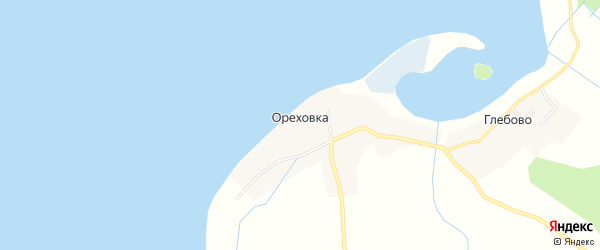 Карта деревни Ореховки города Осташкова в Тверской области с улицами и номерами домов