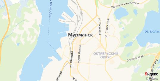 Карта Мурманска с улицами и домами подробная. Показать со спутника номера домов онлайн