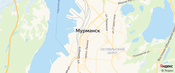 Карта Мурманска с районами, улицами и номерами домов: Мурманск на карте России