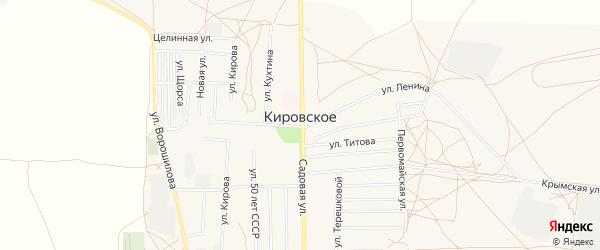 Карта Кировского села в Крыму с улицами и номерами домов
