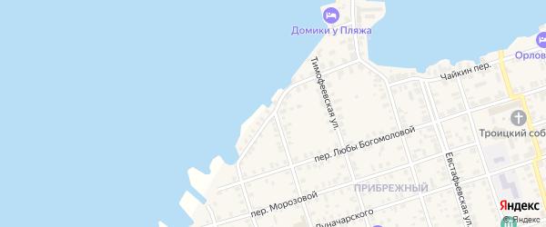 Береговой переулок на карте Осташкова с номерами домов