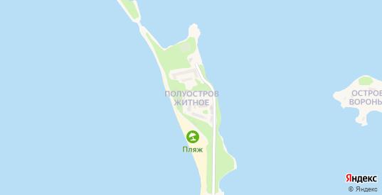 Улица Житное полуостров в Осташкове с номерами домов на карте. Спутник и схема онлайн