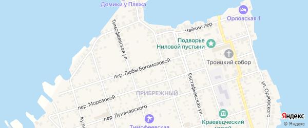 Любы Богомоловой переулок на карте Осташкова с номерами домов