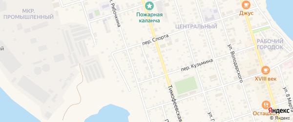 Линейный проезд на карте Осташкова с номерами домов