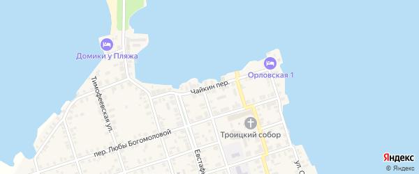 Переулок Чайкин на карте Осташкова с номерами домов