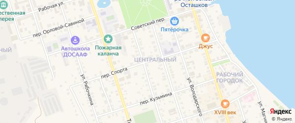 Переулок Спорта на карте Осташкова с номерами домов