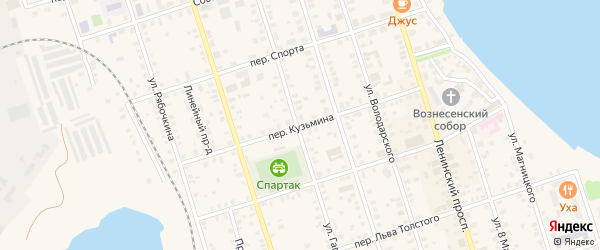 Переулок Кузьмина на карте Осташкова с номерами домов