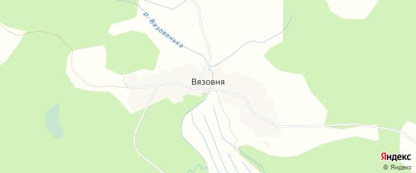 Карта деревни Вязовня города Осташкова в Тверской области с улицами и номерами домов