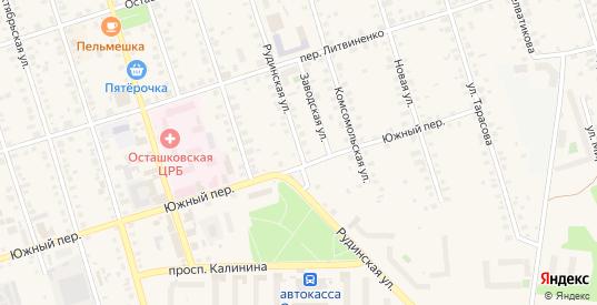 Рудинская улица в Осташкове с номерами домов на карте. Спутник и схема онлайн