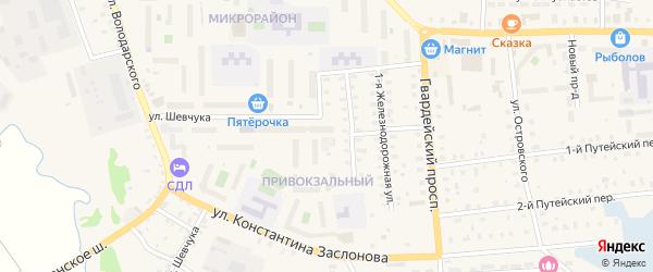 3-я Железнодорожная улица на карте Осташкова с номерами домов