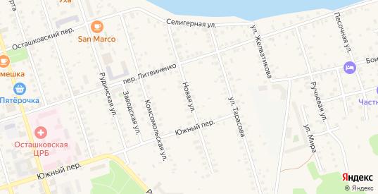 Новая улица в Осташкове с номерами домов на карте. Спутник и схема онлайн