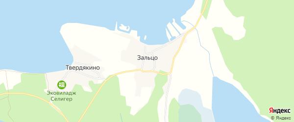 Карта деревни Зальцо города Осташкова в Тверской области с улицами и номерами домов