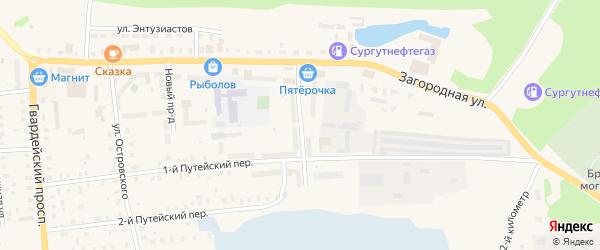 Медицинский проезд на карте Осташкова с номерами домов