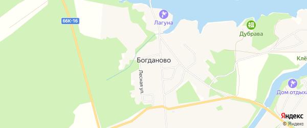 Карта деревни Богданово в Смоленской области с улицами и номерами домов