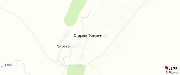 Карта деревни Старые Фоминичи в Смоленской области с улицами и номерами домов