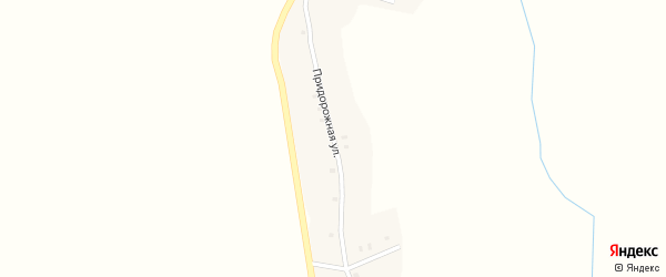 Придорожная улица на карте села Лобки Брянской области с номерами домов
