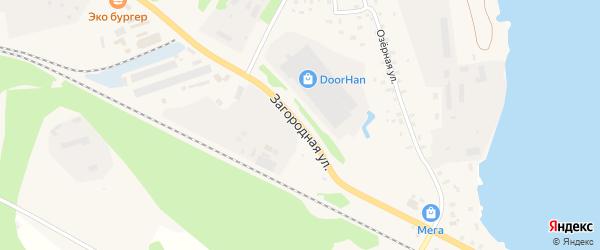 Загородная улица на карте Осташкова с номерами домов