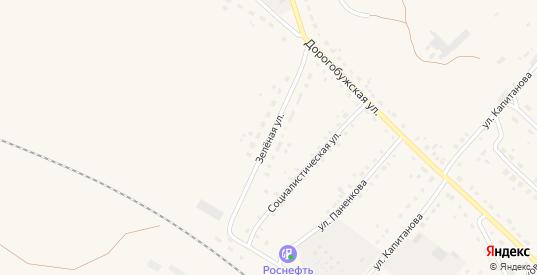 Зеленая улица в Ельне с номерами домов на карте. Спутник и схема онлайн