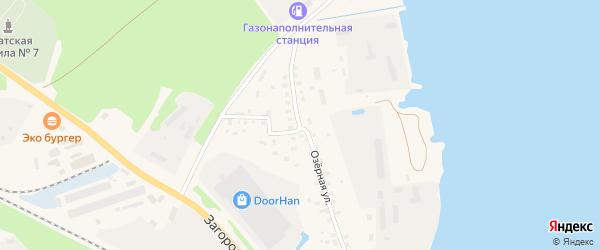 Озерная улица на карте поселка Сиговка с номерами домов