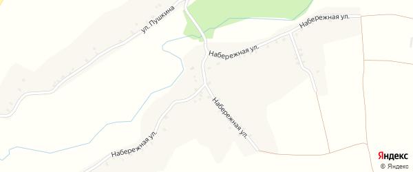 Набережная улица на карте села Лобки Брянской области с номерами домов