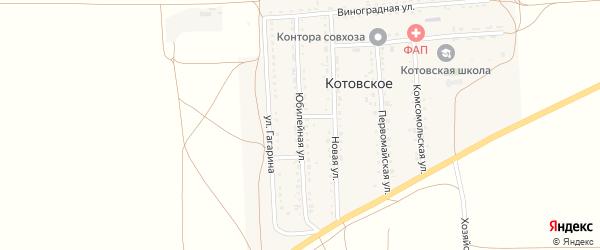 Юбилейная улица на карте Котовского села Крыма с номерами домов