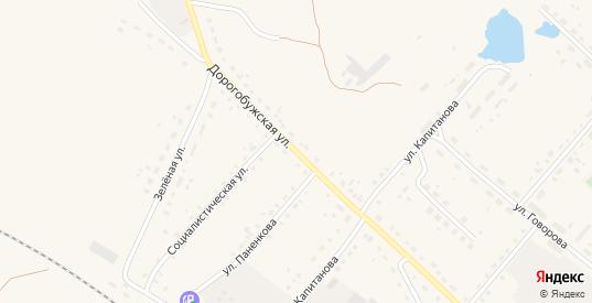 Дорогобужская улица в Ельне с номерами домов на карте. Спутник и схема онлайн