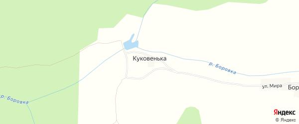 Карта деревни Куковеньки в Смоленской области с улицами и номерами домов