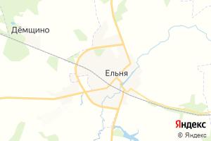 Карта г. Ельня Смоленская область